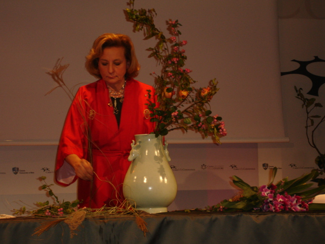 Dimostrazioni e Conferenze al Garden Club di Bologna - Ikebana con Fiorella De Leo e Elisabetta Galli